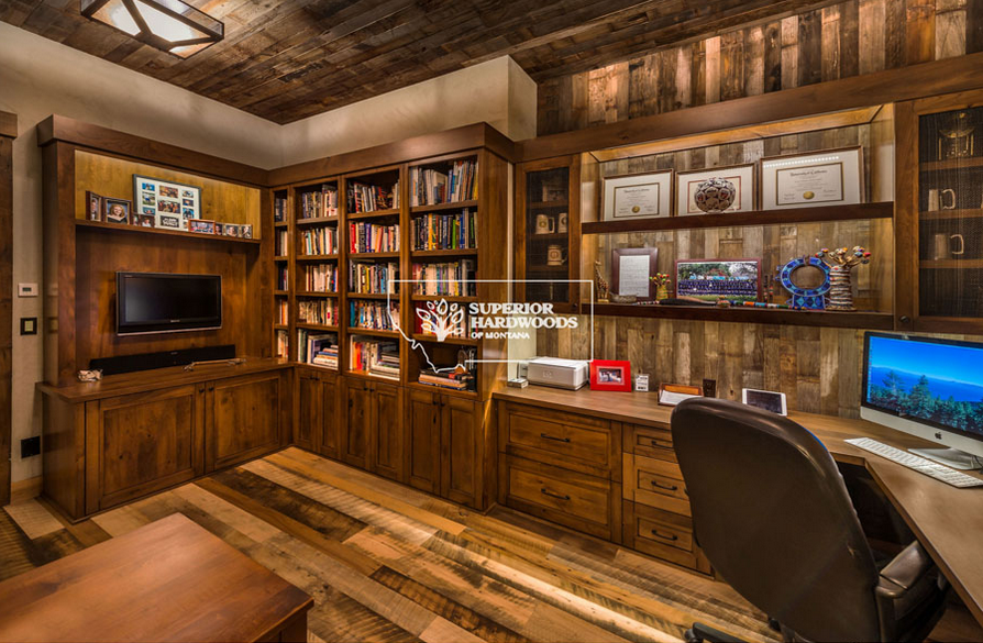 Home Office with Reclaimed Wood
