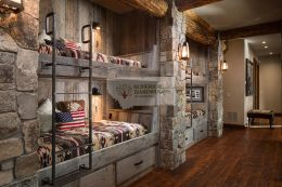 Reclaimed Corral Board Bunk Beds in Montana