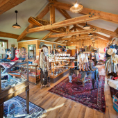 Wood Beams in Retail Space - Superior Hardwoods Reclaimed Lumber Company
