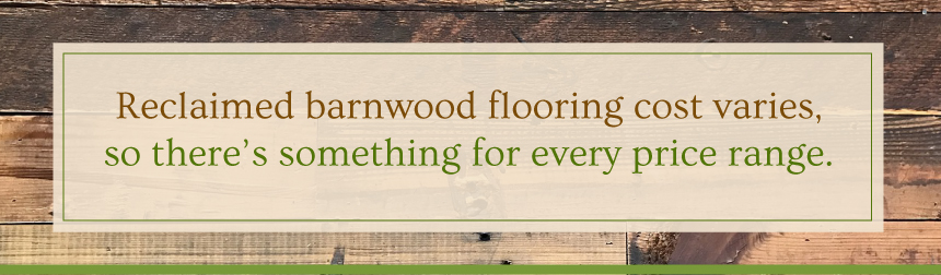 Reclaimed Barnwood Flooring Prices for Every Budget
