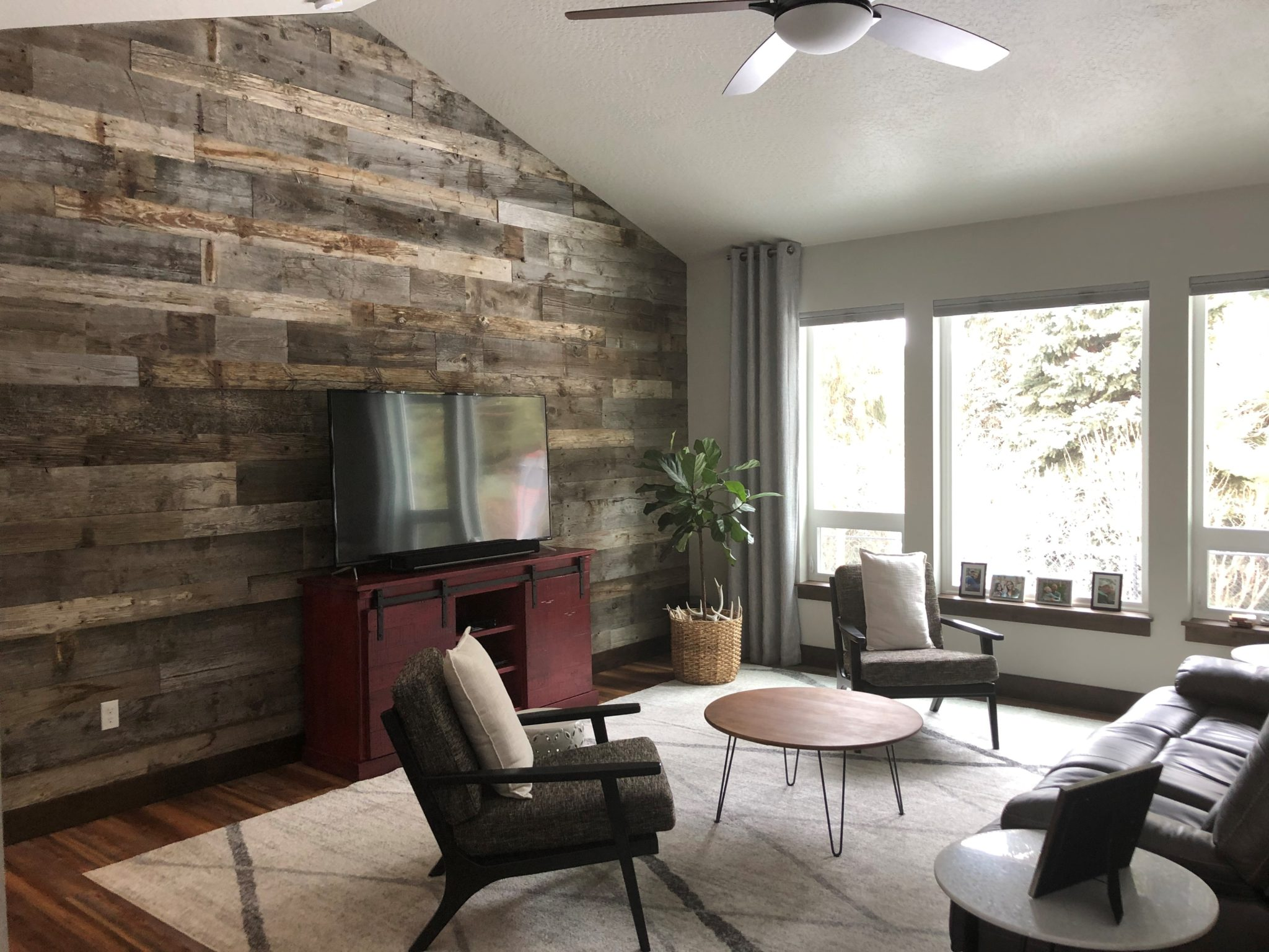 paneling in living room